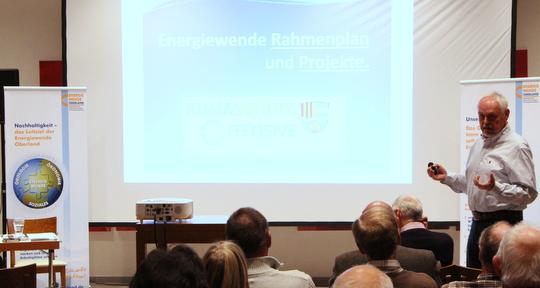 Gert Barth auf der Informationsveranstaltung der EWO-Landkreisgruppe Miesbach in Schliersee.
