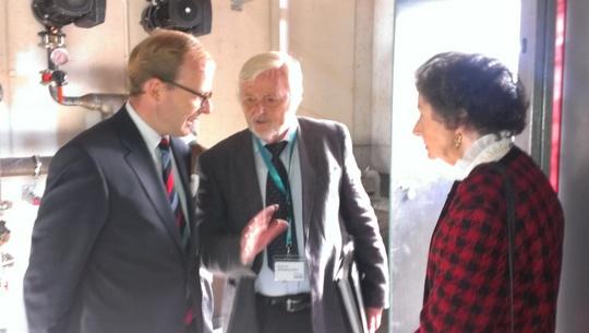 Max-Georg Graf von Arco und Gräfin Monica von Arco im Fachgespräch mit Prof. Dr. Wolfgang Seiler