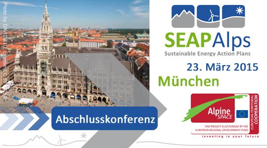 SEAP_ALPS ABSCHLUSSKONFERENZ findet am 23. März 2015 statt