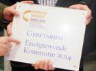 Verleihung der Auszeichnung - Energiewende Kommune 2014 im Oberland