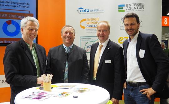 Energiewende Oberland präsentiert sich als Mitglied der Bayerischen Energieagenturen e.V. auf der Kommunale 2015