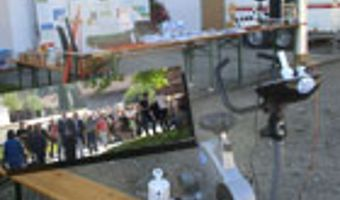 Infostand auf Dorfherbst in Baiernrain