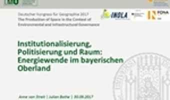 INOLA vielfältig auf dem Deutschen Kongress für Geographie vertreten