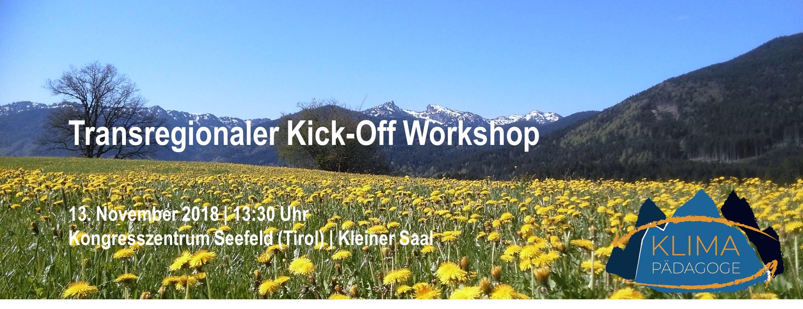 Einladung zum Kick-Off-Workshop KlimaPädagoge