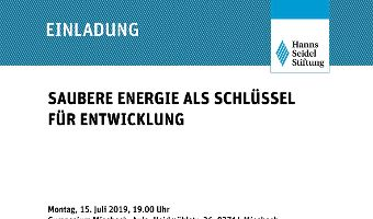 Saubere Energie als Schlüssel für Entwicklung