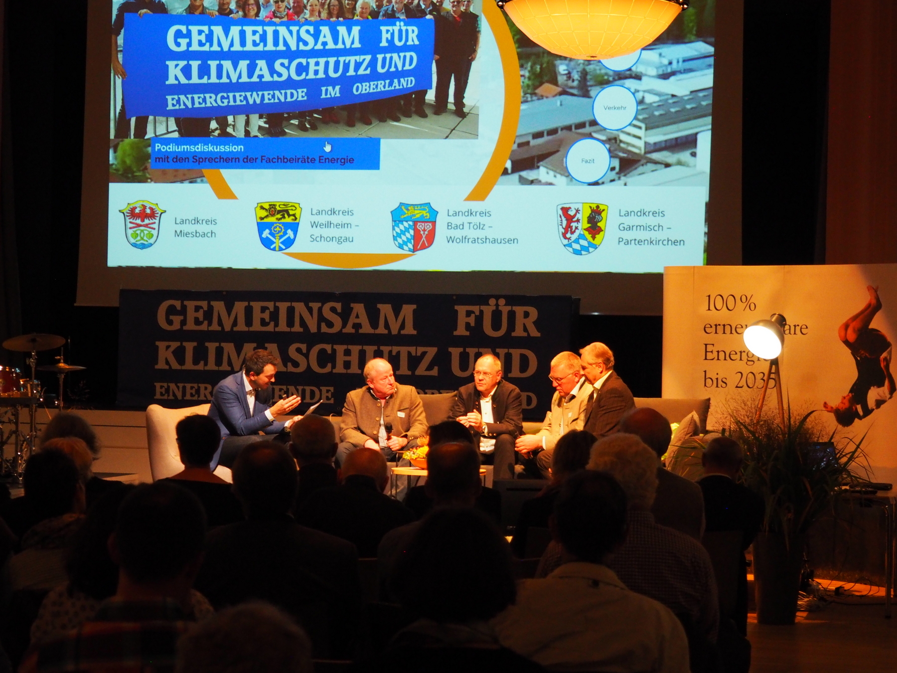Podiumsdiskussion mit den Sprechern der Fachbeiräte Energie und Klima im Oberland