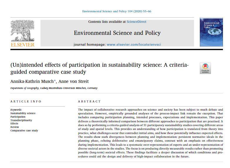 Zwei neue INOLA-Veröffentlichungen zu Partizipationsprozessen in der Nachhaltigkeitsforschung