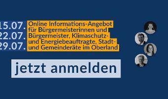 Energieforum Oberland Online: Energiewende und Klimaschutz im Handlungsfeld der Kommunen