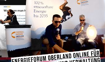 Großes Interesse am Energieforum Oberland - Online