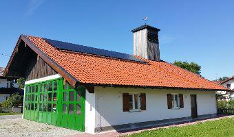 Feuerwehr-Gebäude mit Hybridkollektoren Copyright: Archiv der Stadt Bad Tölz/Wölk