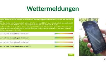 Mit der Lupe auf die eigenen Daten schauen - Zwischenworkshops im Wettermessprojekt  KARE-CS